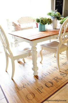 How to paint a farm table.