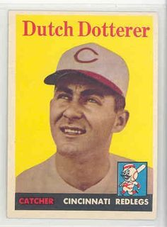 1958 Topps Baseball 396 Dutch Dotterer Reds EX/MT by Topps. $6.00. This vintage card featuring Dutch Dotterer is # 396 from the 1958 Topps Baseball set