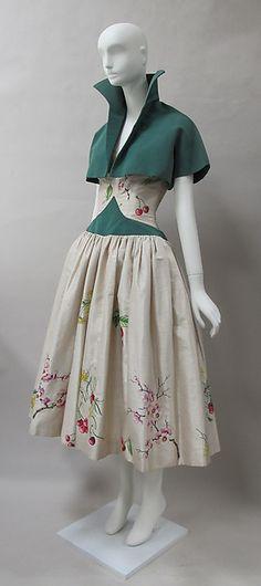 Ensemble Designer: Emilio Schuberth (Italian, 1904–1972) Date: mid-20th century Culture: Italian