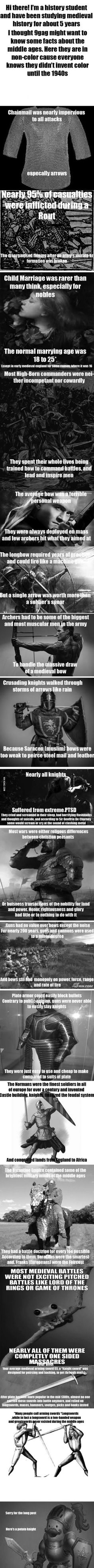Here are some facts about the Middle Ages most people don't know. Enjoy!