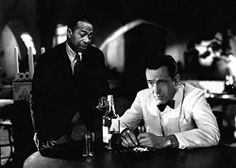 Casablanca - Family Friendly Movies Sam and Rick in the Cafe American - Play it, Sam http://family-friendly-movies.com/drama/casablanca/