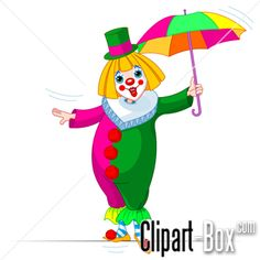 CLIPART CLOWN ON TIGHTROPE