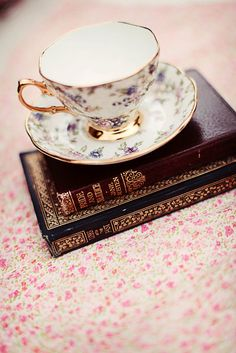 I love to read and drink tea... or write and drink tea...
