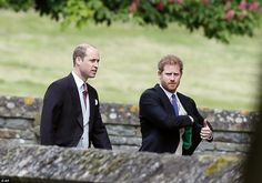 Britain's Prince William, left, and his brother Prince Harry arrive for the wedding of Pippa Middleton and James Matthews at St Mark's Church on May 2017 in Englefield. Middleton, the sister of. Get premium, high resolution news photos at Getty Images Kate Middleton, Pippa Middleton Wedding, Middleton Family, British Prince, British Royals, Prince William And Harry, Prince Harry And Meghan, Duke William, Prince Charles