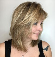 Mid-Length+Layered+Cut+With+Side+Bangs