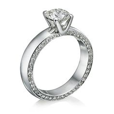 Diamond Engagement Ring 1 1/2 ct, I Color, VS2 Clarity, GIA Certified, Round Cut, in 18K Gold / White - http://www.sofiasluxuryjewelry.com/jewelry/wedding-anniversary/engagement-rings/diamond-engagement-ring-1-12-ct-i-color-vs2-clarity-gia-certified-round-cut-in-18k-gold-white-com/