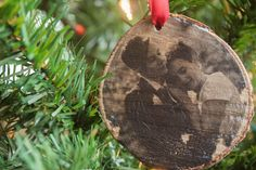 diy christmas ornament, wood photo