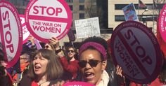 """Hundreds of women marched in Washington, D.C. on Wednesday, protesting President Donald Trump's reinstatement of the so-called """"global gag rule""""—a """"failed, deadly policy"""" they say """"threatens access to safe abortion and other basic healthcare for millions of people around the world."""""""