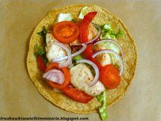 Tortilla z kurczakiem w sosie miodowo - musztardowym