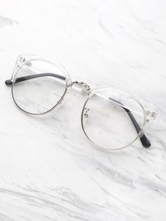 93907e3ff5 Shop Clear Frame Glasses With Clear Lens online. SheIn offers Clear Frame Glasses  With Clear