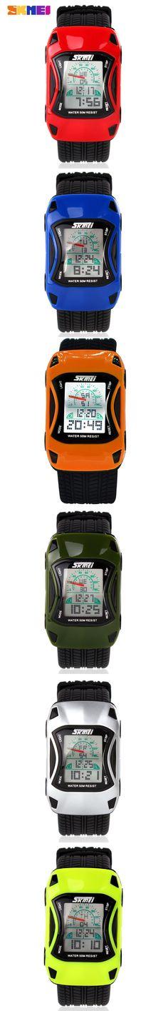 2016 Skmei 0961 LED Digital Cartoon Watch 50m Waterproof Dive Swim Sport Children Watch Jelly Silicone Kids Watch Relogio reloj