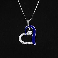 Pretty! Florida Gators Women's Heart Necklace - Royal Blue