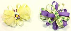 Easter & Valentines Day Unique Novelty Set of Two French Hair Clip Bows for Girls (Y) A coordinated accessory finishes the outfit!  Read more http://cosmeticcastle.net/hair-care/easter-valentines-day-unique-novelty-set-of-two-french-hair-clip-bows-for-girls-y  Visit http://cosmeticcastle.net to read cosmetic reviews