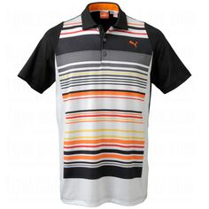 #Puma #Golf #Mens #Cool Cell Duo-Swing Stripe Polo