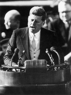 John F. Kennedy John Kennedy, Presidential Speeches, Presidential Inauguration, Inaugural Speech, Presidential History, The Kennedys, Lost Memes, Berlin, Famous Speeches