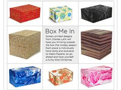 Hand Silk Screened Charles Lahti Boxes - get them now from the holiday collection, exclusively at Kate's Paperie!