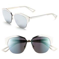 Dior  Mirrors  55mm Cat Eye Sunglasses (1.755 BRL) ❤ liked on Polyvore  featuring accessories, eyewear, sunglasses, mirrored lens sunglasses,  etched glasses ... 5a74ae108067