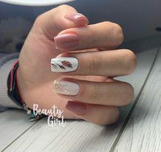 Chic Nails, Trendy Nails, Short Square Acrylic Nails, Nail Techniques, Nails Today, Bride Nails, Gelish Nails, Fall Nail Art, Super Nails