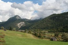 Where my great grandfather was from. One day I'd like to visit!  Italian countryside in the Dolomites near Feltre, Italy