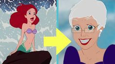What Disney Princesses Look Like In Their Old Age   #DisneyPrincessess