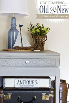 refinished table and lamp| The Lettered Cottage