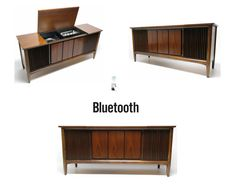 Mid Century Modern Stereo Console Record Player by thevintedgeco