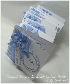 Karte Einladung Zur Taufe ♥ Karo ♥ BOY Oder GIRL Von Www.Kartenshop.at