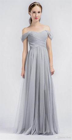I found some amazing stuff, open it to learn more! Don't wait:http://m.dhgate.com/product/2017-cheap-off-shoulder-gray-tulle-long-bridesmaids/394786591.html
