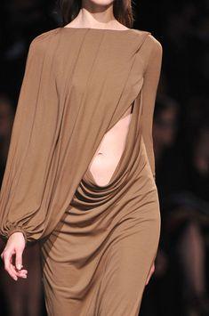 Fluid Draping - minimal chic dress with elegant drape; fashion details // Givenchy