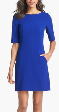 Simple yet elegant a-line dress works for the office and after work events