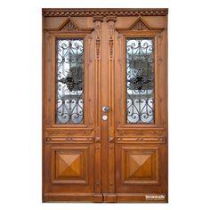 Haustüren holz antik  Historische Haustür, Antike restaurierte Haustür mit ...