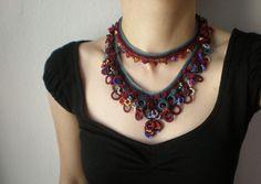 Cellular Biology ... Freeform Crochet Necklace. $118.00, via Etsy.