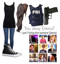 Criminal Minds OC by fandomfangirl100 on Polyvore featuring Juvia, Paige Denim, Converse and CriminalMinds