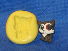 Littlest Pet Shop Kitty Cat Push Mold Food Safe Silicone #549 Chocolate Cake Clay Soap Candle by LobsterTailMolds on Etsy