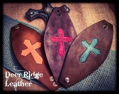 A personal favorite from my Etsy shop https://www.etsy.com/listing/475447803/womens-tooled-leather-cross-cuff