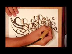 How to create a Pyrography project of flowers - YouTube