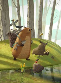 Story about how the forest animals preparing for war  Writer - Vytautas V…