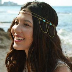 Bohemia Beads Link Tassel Hairband For Women