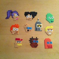 Futurama characters perler beads by pernillepedersen
