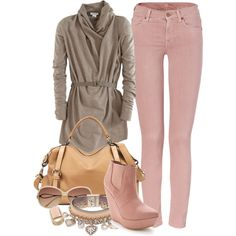 Tan with Light Pink <3