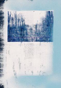 Wood - collage mila blau