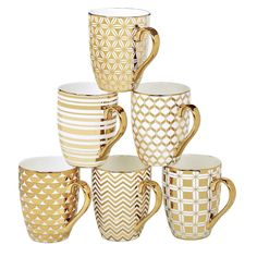 Willa Arlo Interiors Blayze 6 Piece Tapered Mug Set & Reviews | Wayfair