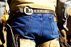 wrangler jeans 'n cowboy butts ;)
