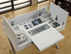 A Desk That Will Store, Charge and Organize All Of Your Gadgets, $240.51
