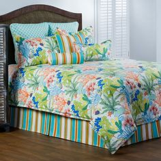 The trendy bed brings you island breeze by burbury home collection at Victor Mill, comforter sets, luxury bedding, daybed sets, and more. Tropical Bedding, Tropical Bedrooms, Coastal Bedding, Coastal Bedrooms, Coastal Living Rooms, Coastal Decor, Luxury Bedding, Coastal Lighting, Modern Coastal