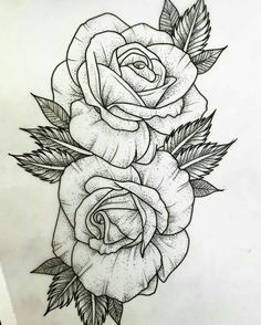▷ 1001 + Ideen und inspirierende Bilder zum Thema Rosen Tattoo - - ▷ 1001 + Ideen und inspirierende Bilder zum Thema Rosen Tattoo Malen und zeichnen here are rose tattoo template here are two large white rose tattoos with black leaves Rose Drawing Tattoo, Tattoo Sketches, Tattoo Drawings, Drawing Pin, Rose Tattoo Forearm, Flower Drawings, Drawing Base, Drawing Ideas, Leg Tattoos