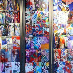 The wall of scarves! To be discovered in Christian Lacroix Saint-Sulpice shop in Paris. An explosion of joy and colours…   #HappyMonday Le mur de foulards, coloré et énergique. À découvrir dans la boutique Christian Lacroix Place Saint-Sulpice. Bonne nouvelle, ils sont soldés! Très belle semaine.   #ChristianLacroix #Lacroix #Accessories #Accessoires #Mode #Fashion #Girl #Scarf #Foulard #SilkScarf #Style #Colors #Love #Beautiful #Monday #Wall