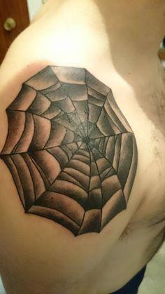 Tattoos by Pedro Peñas: TATUAJE TELA ARAÑA