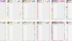 Plantilla de listas de alumnos/as variadas para clase a todo color plantilla editable