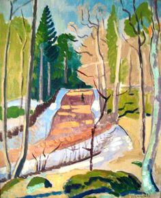 Isaac Grunewald Henri Matisse, Contemporary Abstract Art, Impressionist Art, Paintings I Love, Cool Art, Awesome Art, Scandinavian, Landscape, Illustration